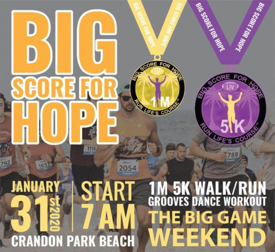 Click me! SUPERBOWL Big Score for Hope 5K Run/Walk 2020